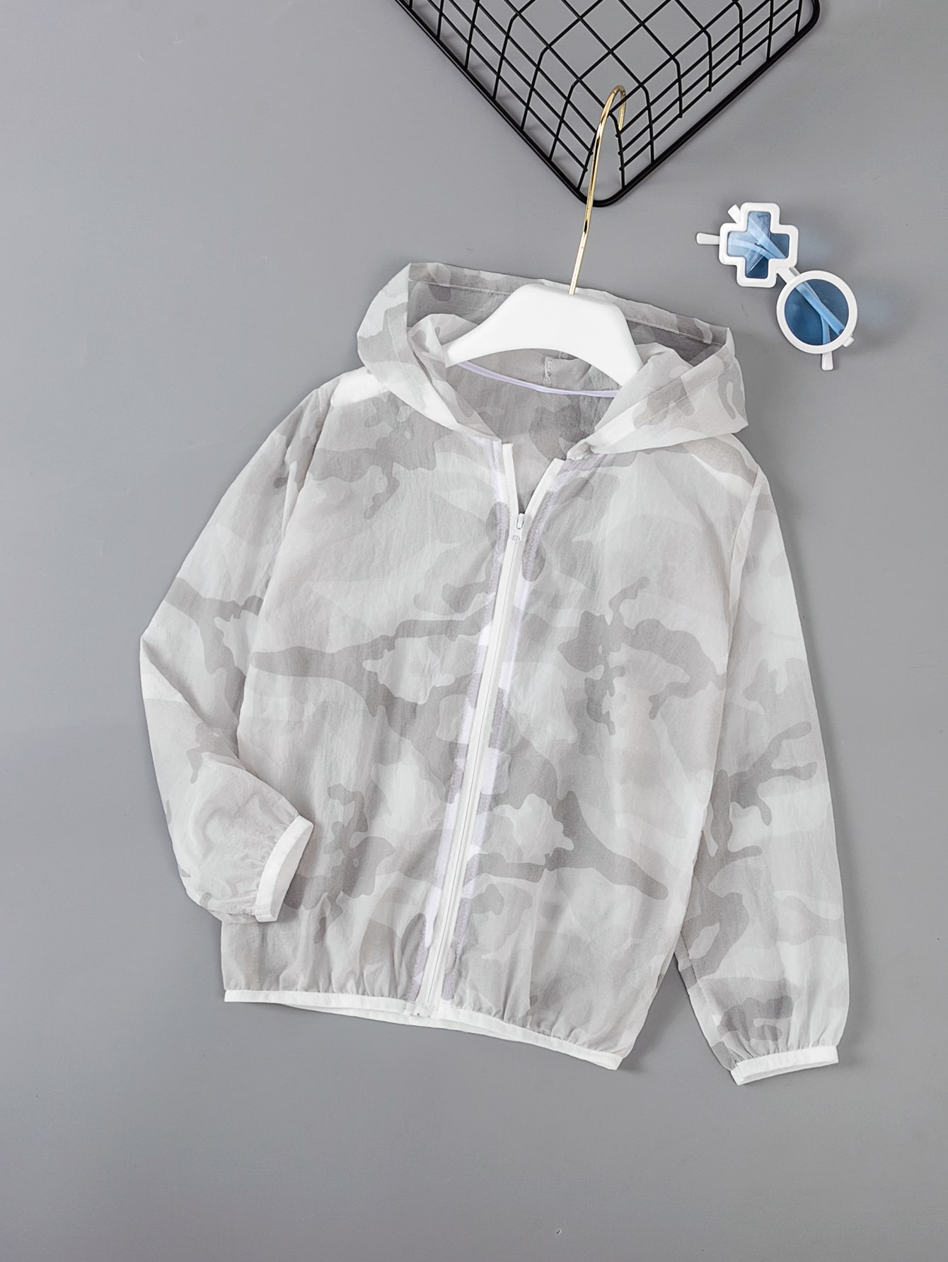 boys camo hooded jacket