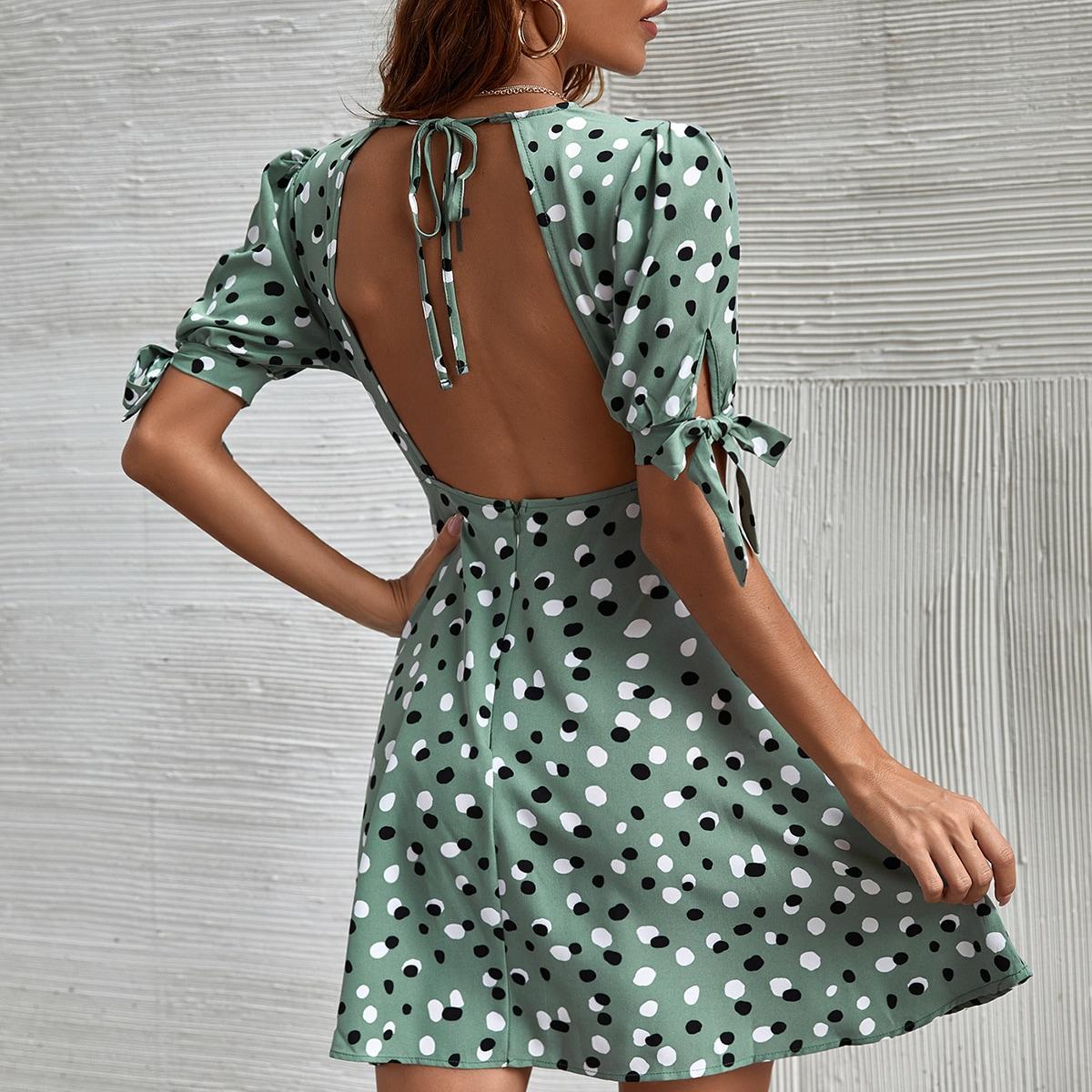 Платье в горошек SheIn swdress23210402585