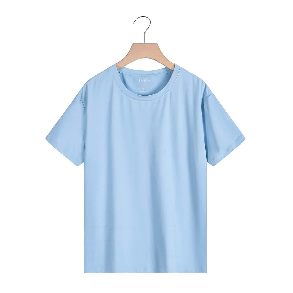 Однотонная футболка SheIn swtee24210517340