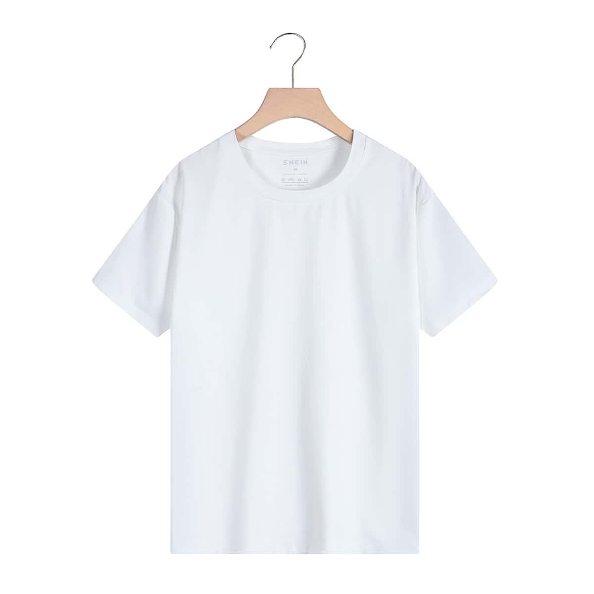 Однотонная футболка SheIn swtee24210517324