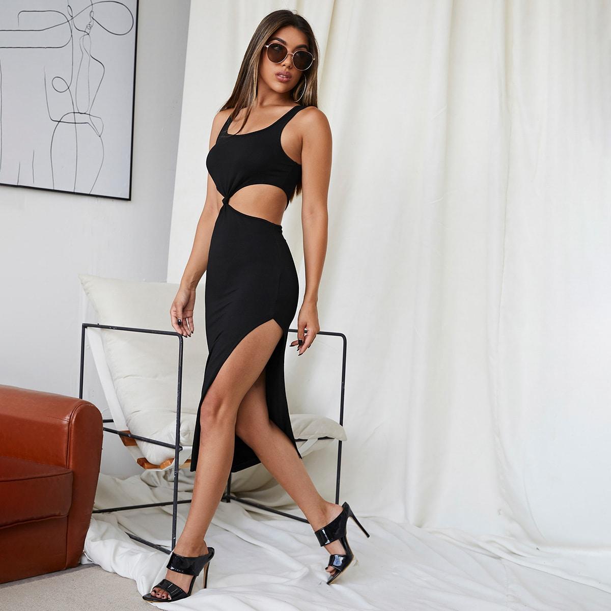 Платье с разрезом высоким разрезом SheIn swdress07210428209