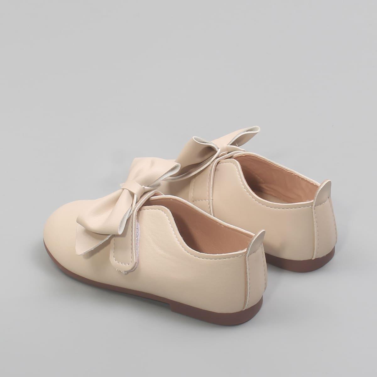 Туфли на плоской подошве с бантом для девочек от SHEIN
