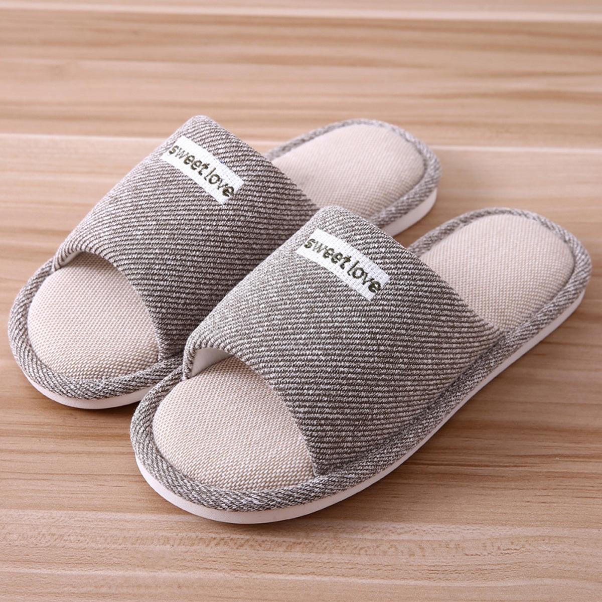 Мужской Тапочки для спальни с открытым носком с текстовым принтом от SHEIN