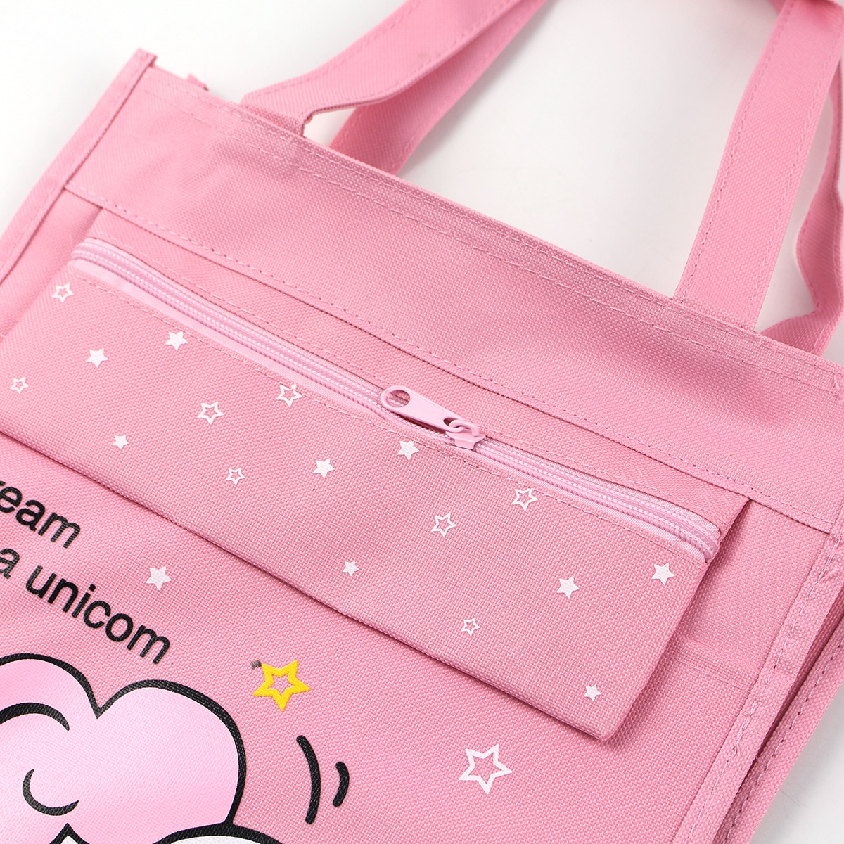 Girls Cartoon Graphic Tote Bag