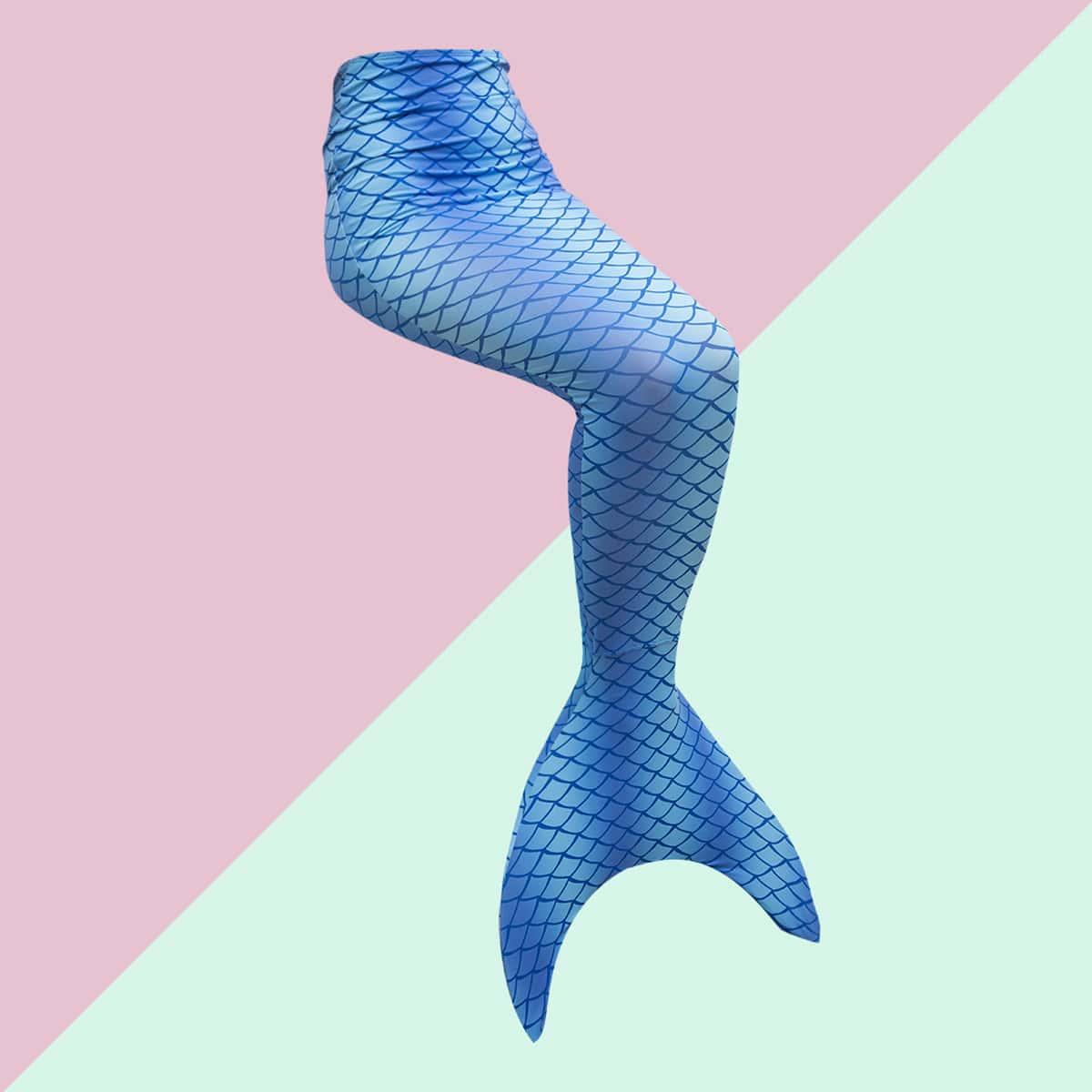 Юбка в форме хвоста русалки для девочек