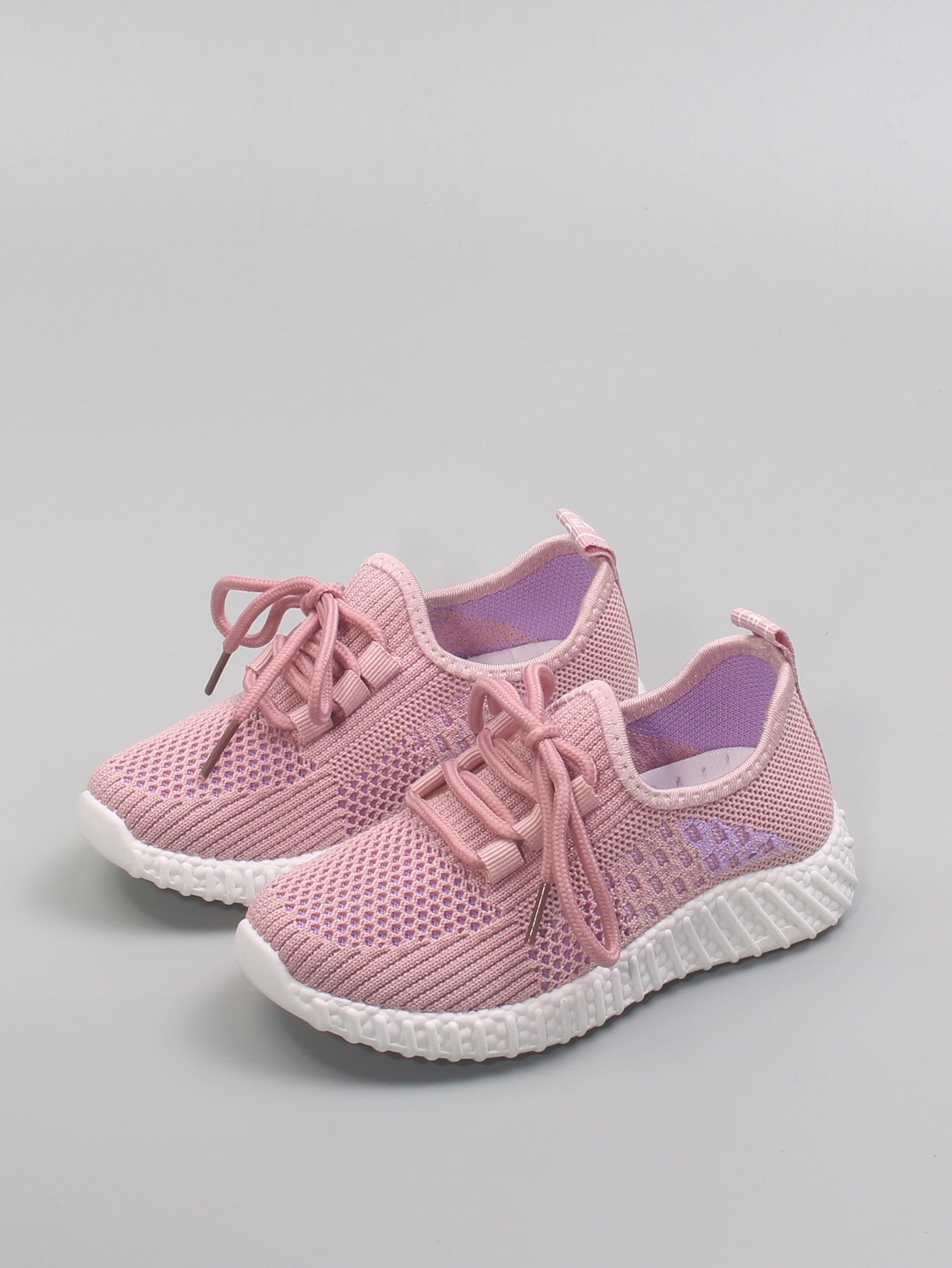 Boys Lace Up Decor Knit Sneakers