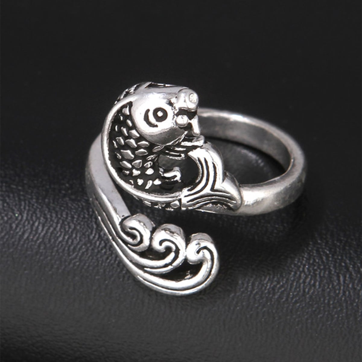 Men Fish Design Ring