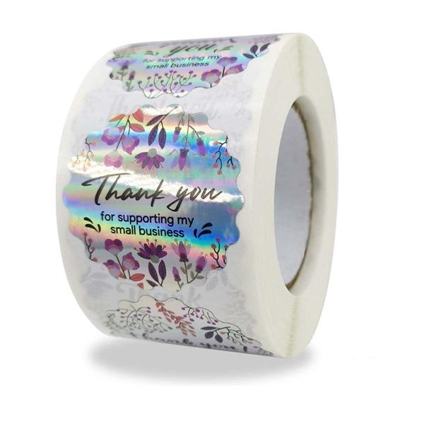 1roll Slogan Graphic Metallic Sticker, Multicolor
