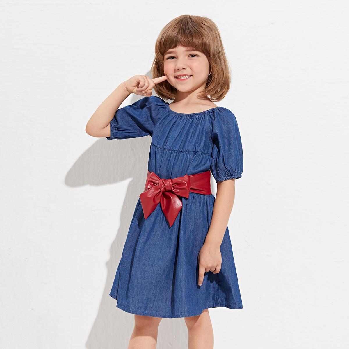 для девочек Джинсовое платье с Ремень SheIn skdress25210513213