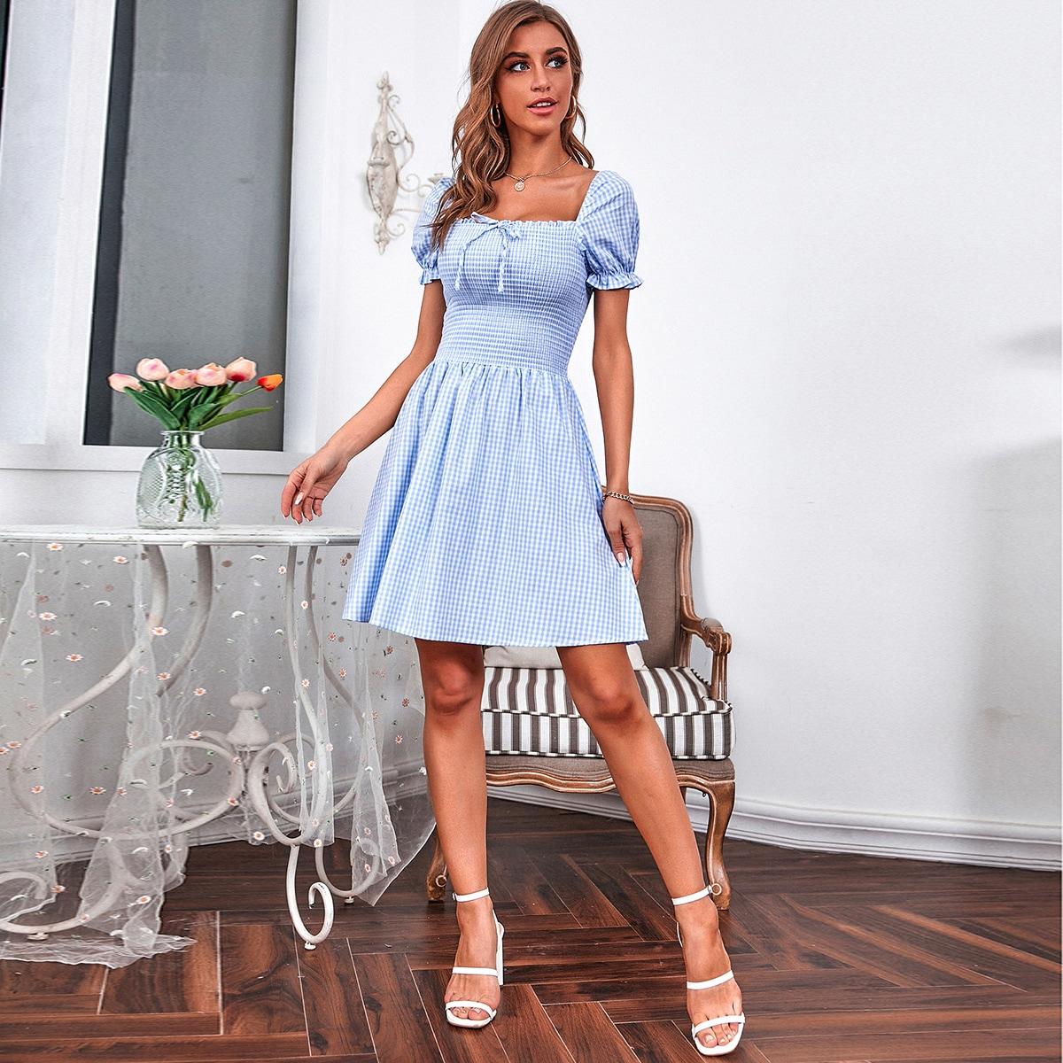 Платье в клетку SheIn swdress02210422771