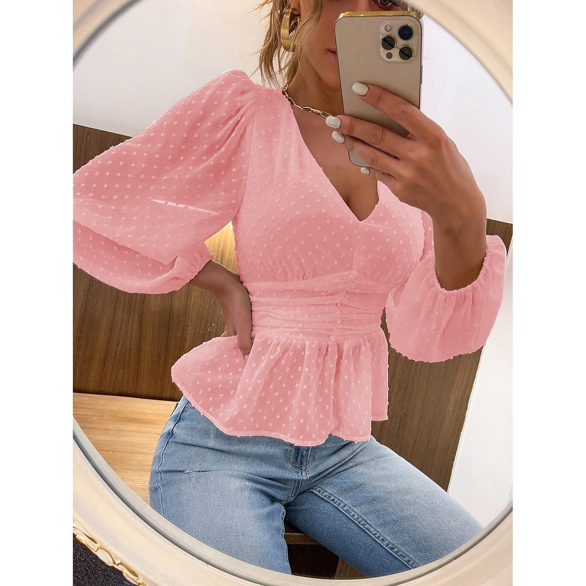 Шифоновая блузка SheIn swblouse02210508455