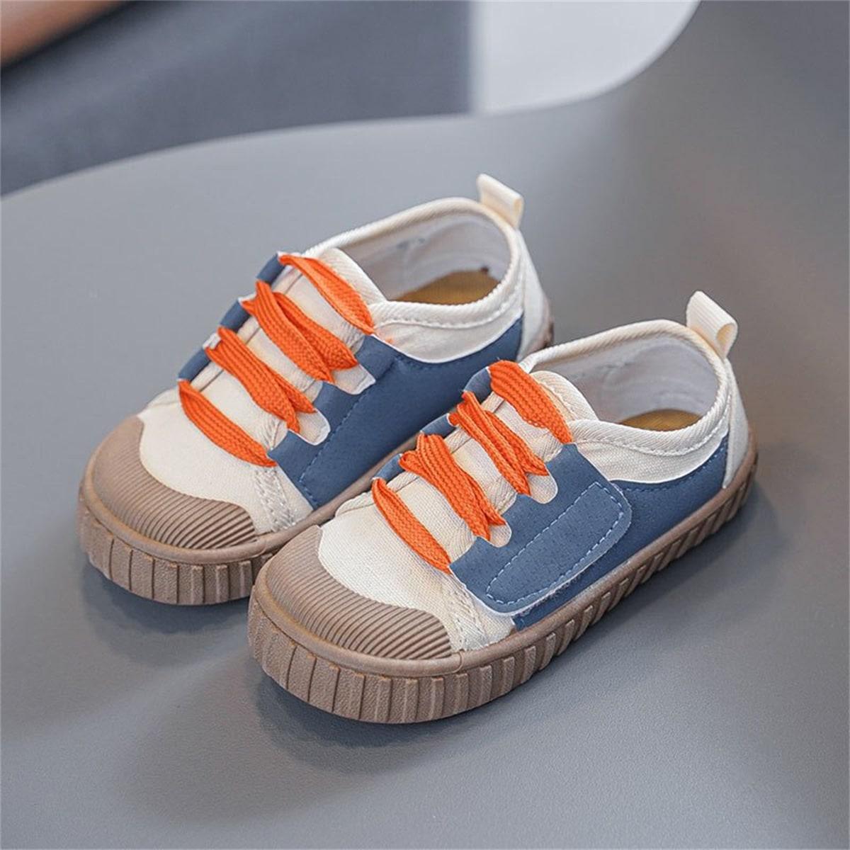 для мальчиков Холщовые туфли контрастный от SHEIN