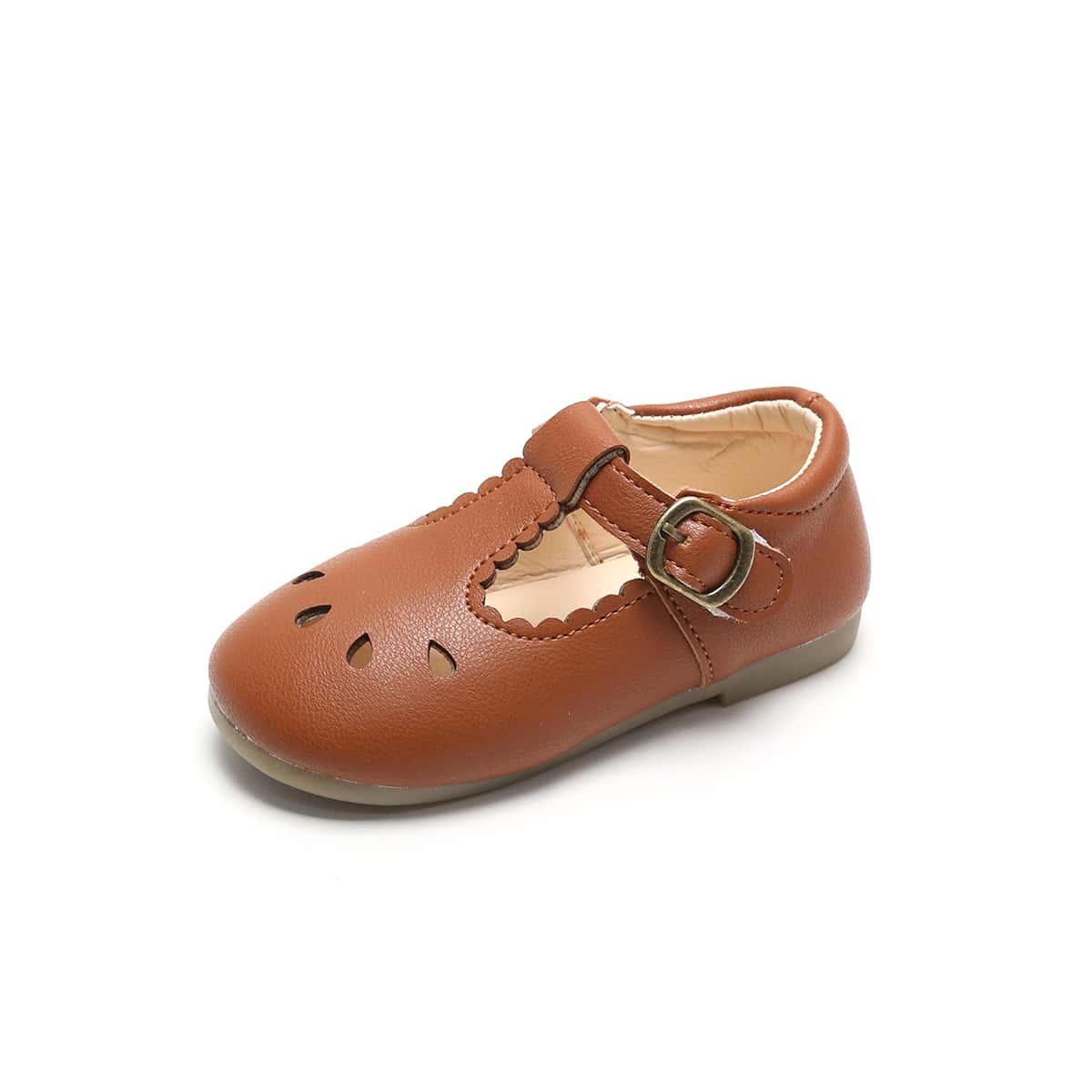 Туфли мэри джейн с фестончатой отделкой для девочек от SHEIN