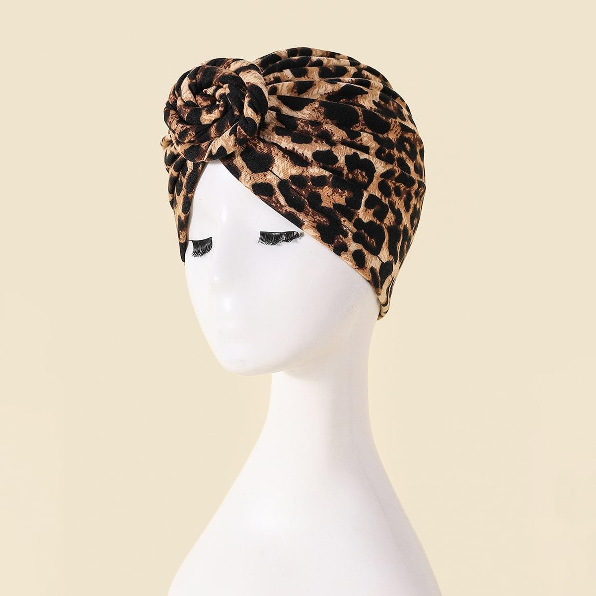 Leopard Print Wrap Hat
