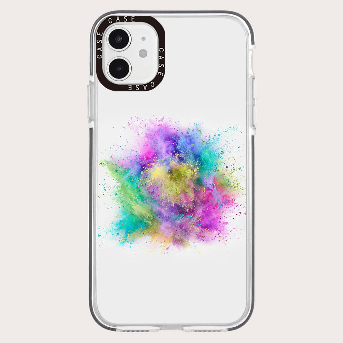 Colorful Powder Clear Phone Case