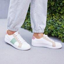 Color Block Skate Shoes