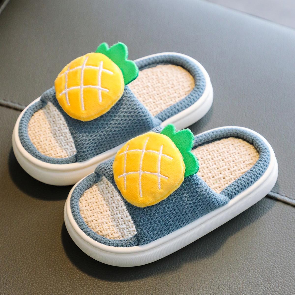 Тапочки для спальни с ананасом для мальчиков от SHEIN