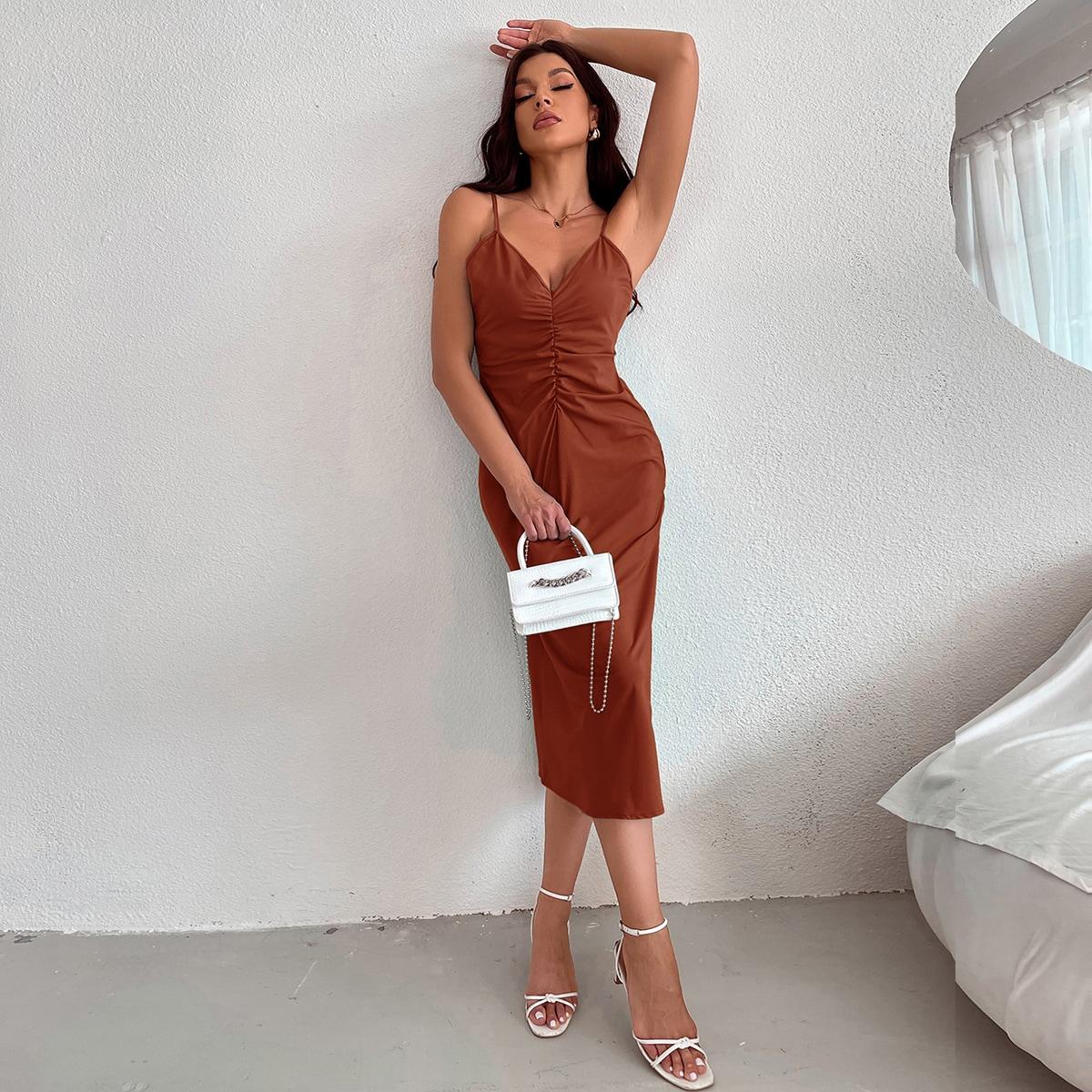 Платье на бретелях SheIn swdress02210512455