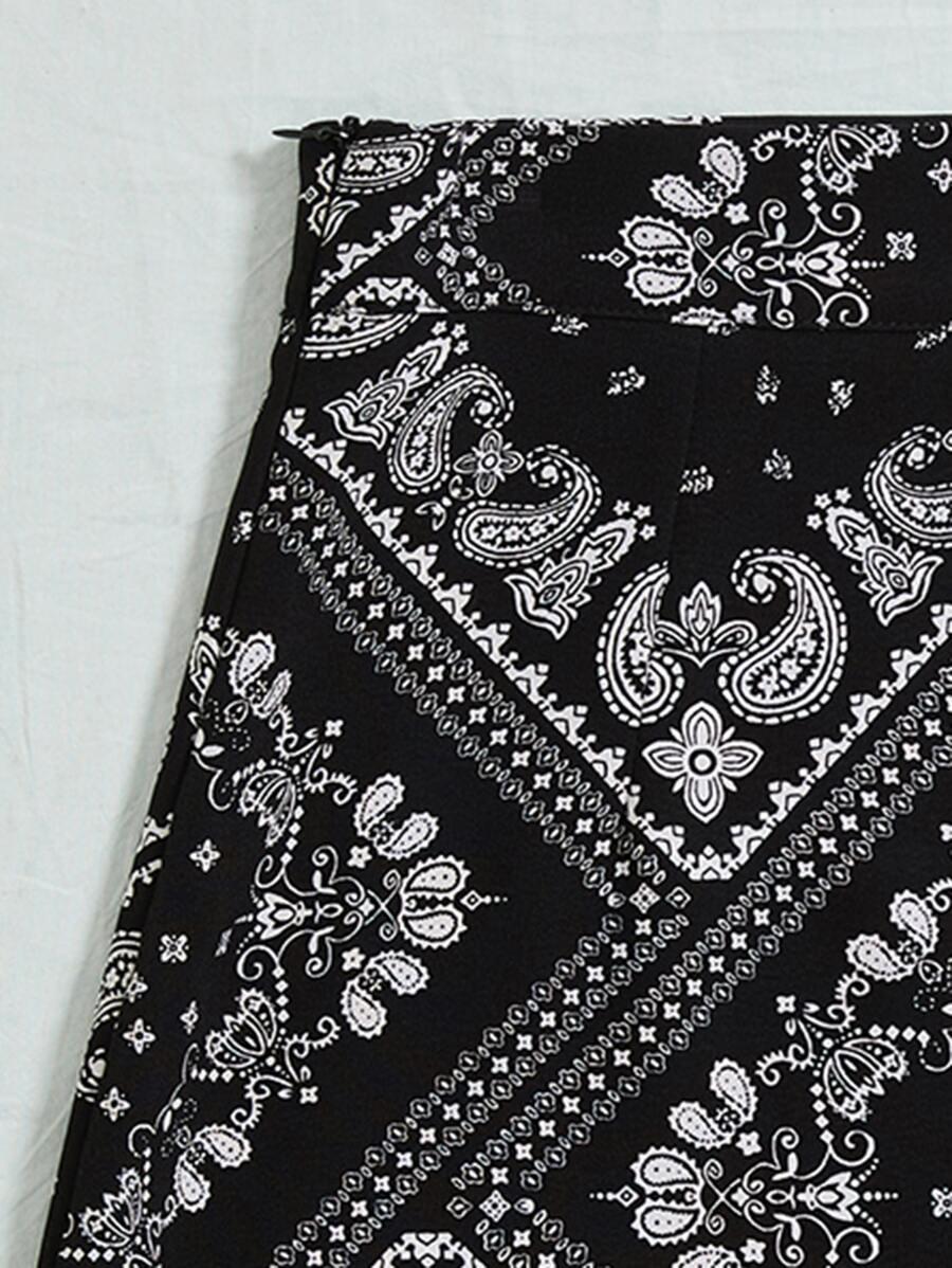 Scarf Print Skirt   SHEIN USA