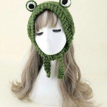 Cartoon Frog Knit Hat