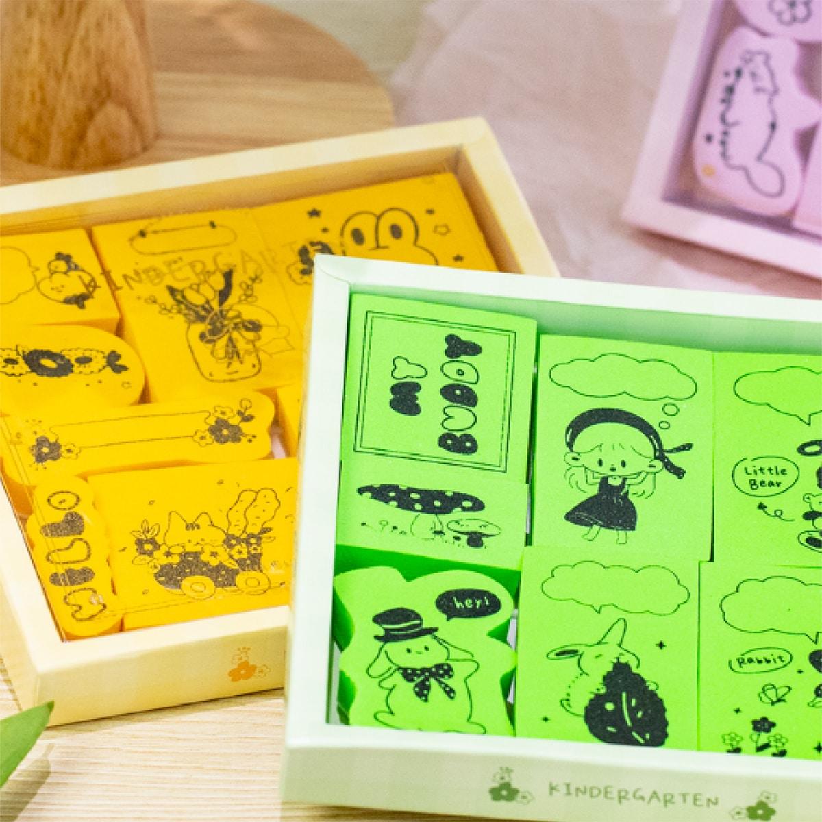 1box Random Pattern Sponge Stamp