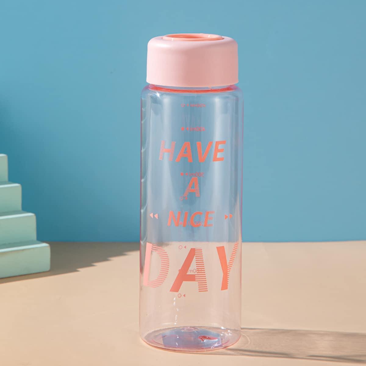 Slogan Graphic Water Bottle