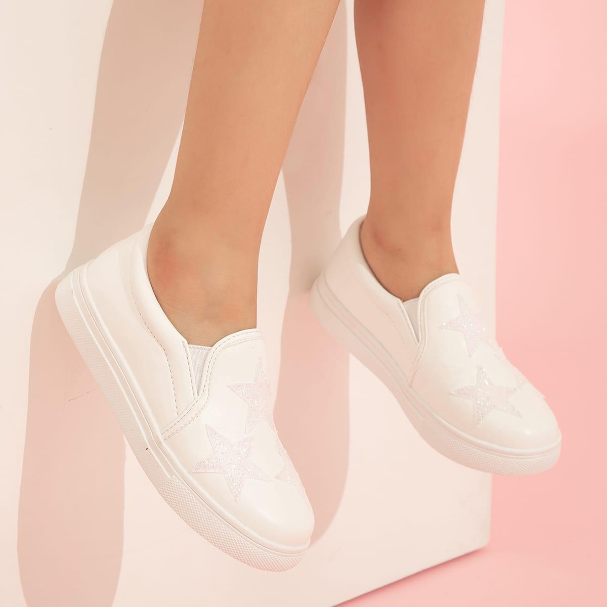 Кроссовки с аппликациями для девочек SheIn skshoes25210525309