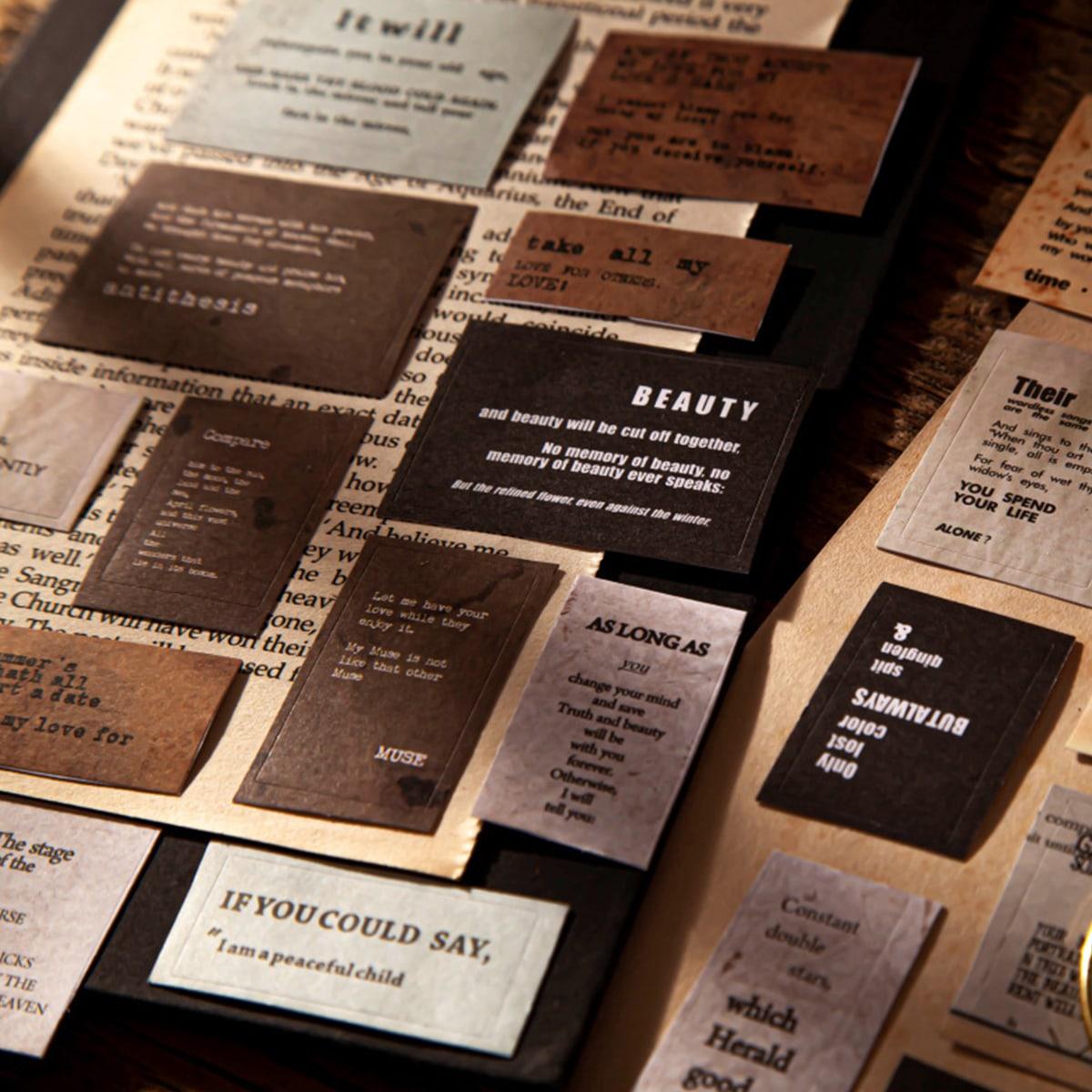 15 feuilles Sticker aléatoire avec motif vintage