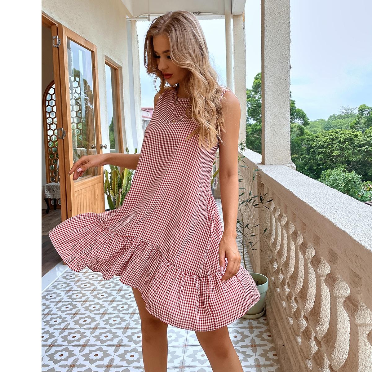 Платье в клетку SheIn swdress25210416333