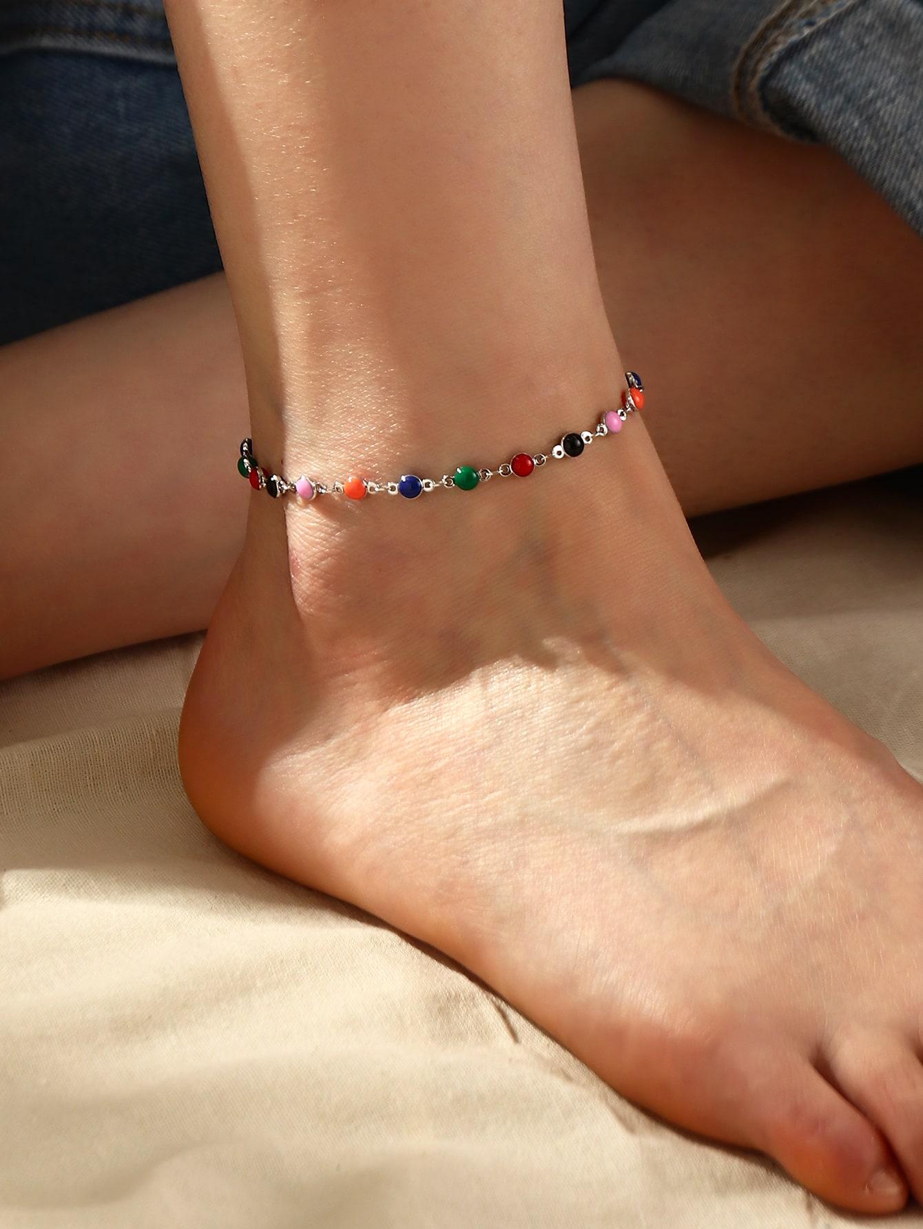 bead decor anklet