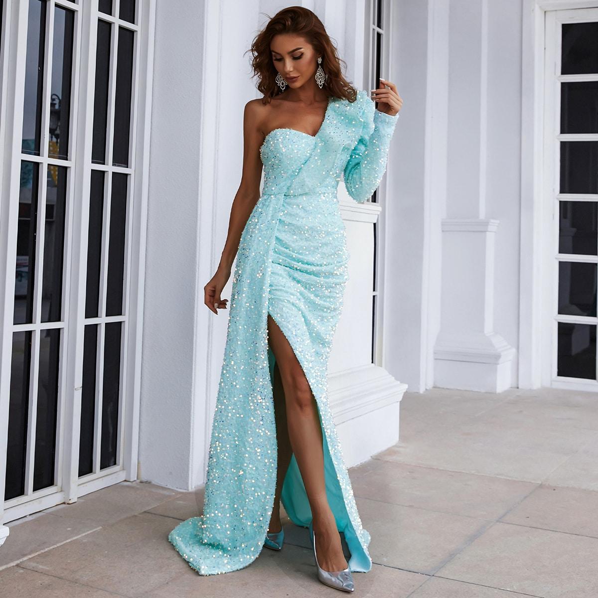 Платье на одно плечо SheIn swdress31210527125