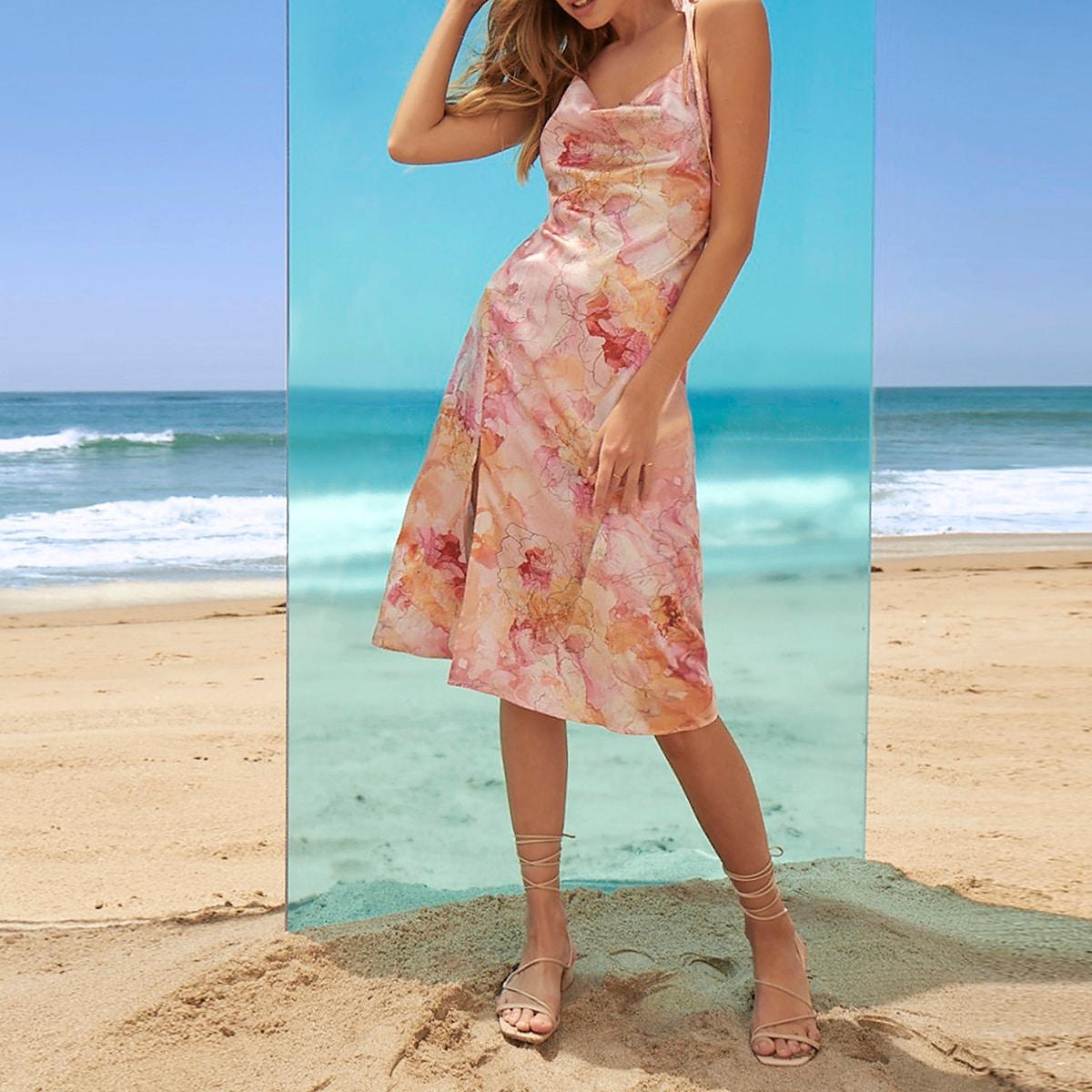 Платье с вырезом на спине SheIn swdress07210422966
