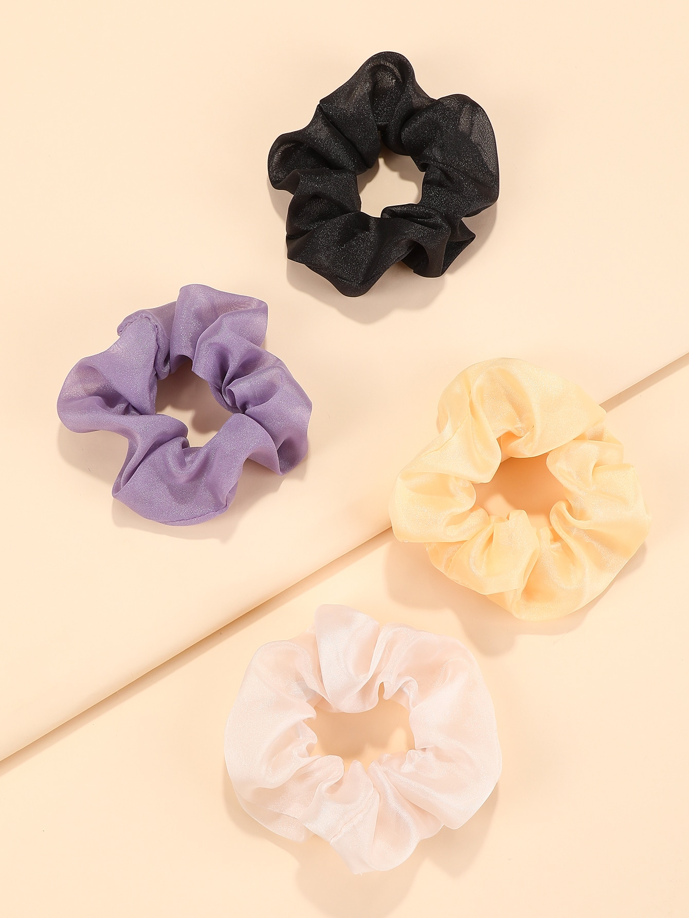 4pcs solid scrunchies