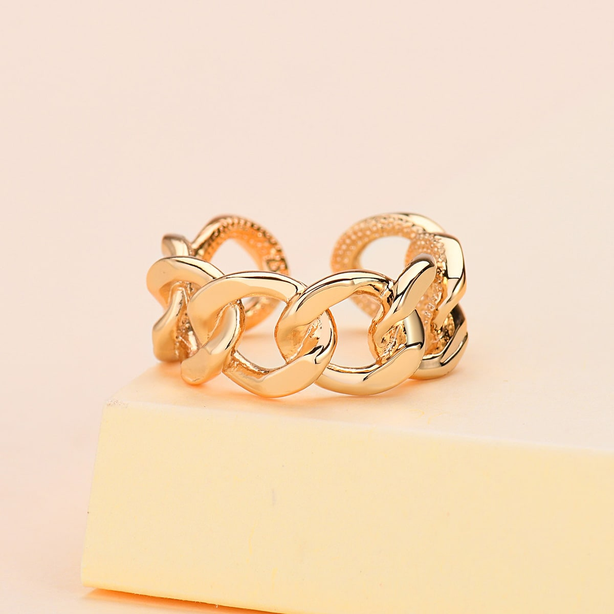 18K Gold Plated Chain Design Ring