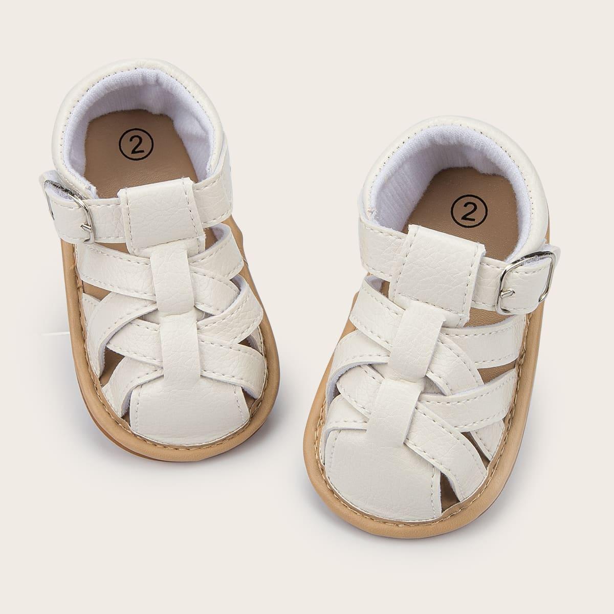 Минималистичные сандалии с плетеным дизайном для мальчиков SheIn skshoes25210528908