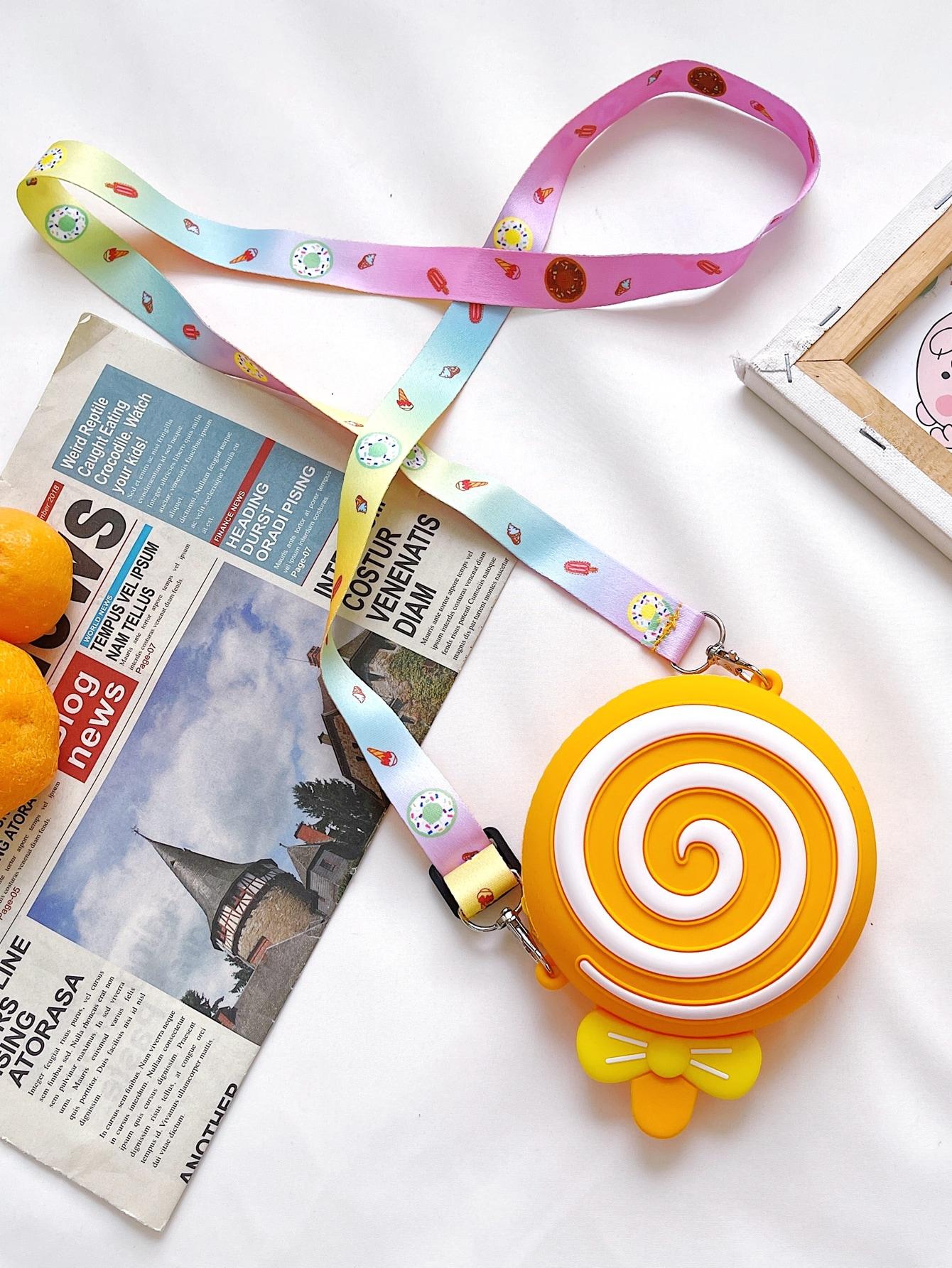 girls lollipop design crossbody bag