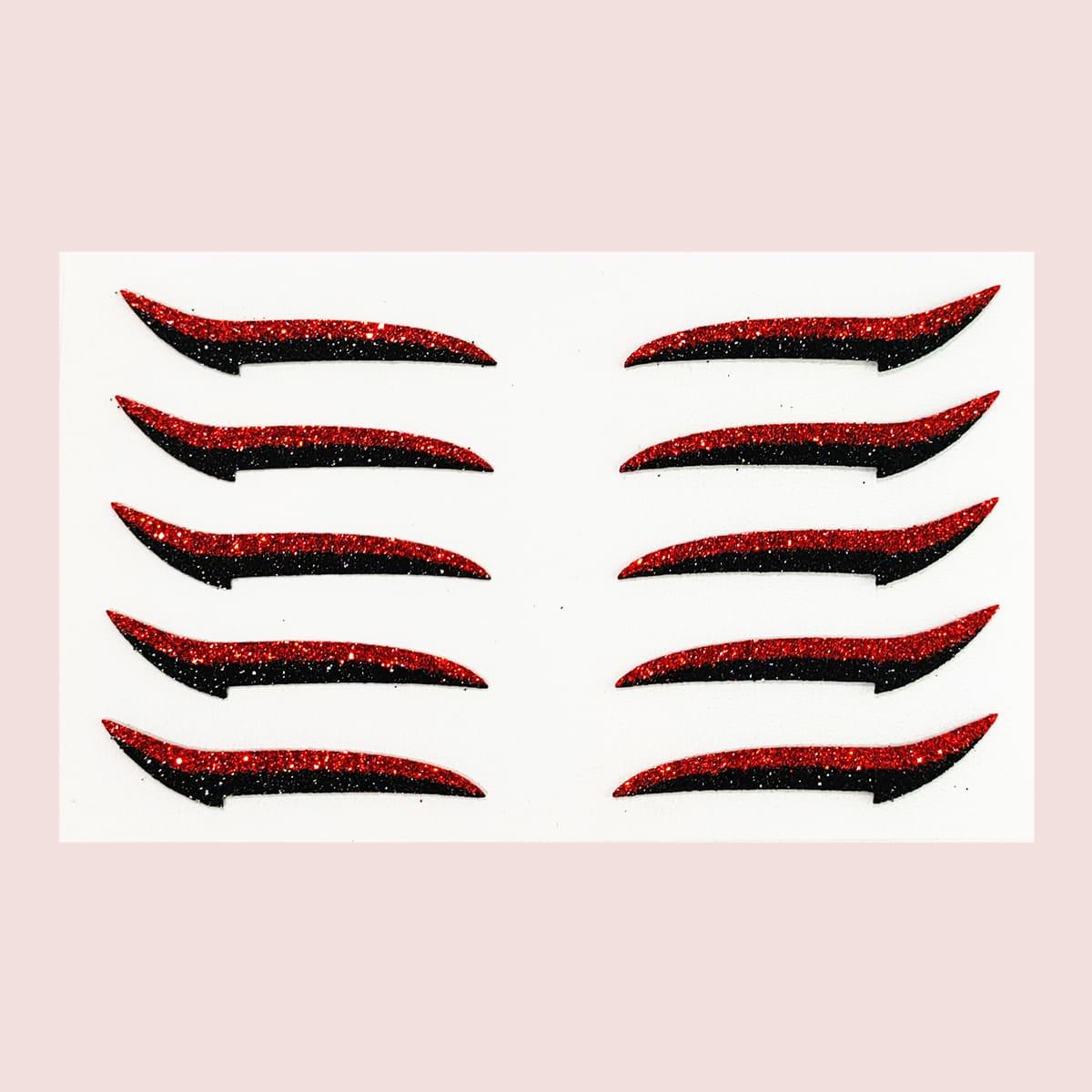 1 hoja pegatina de delineador de ojos brillante