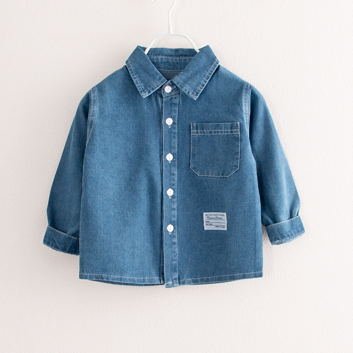 Toddler Boys Letter Patched Denim Jacket, SHEIN  - buy with discount