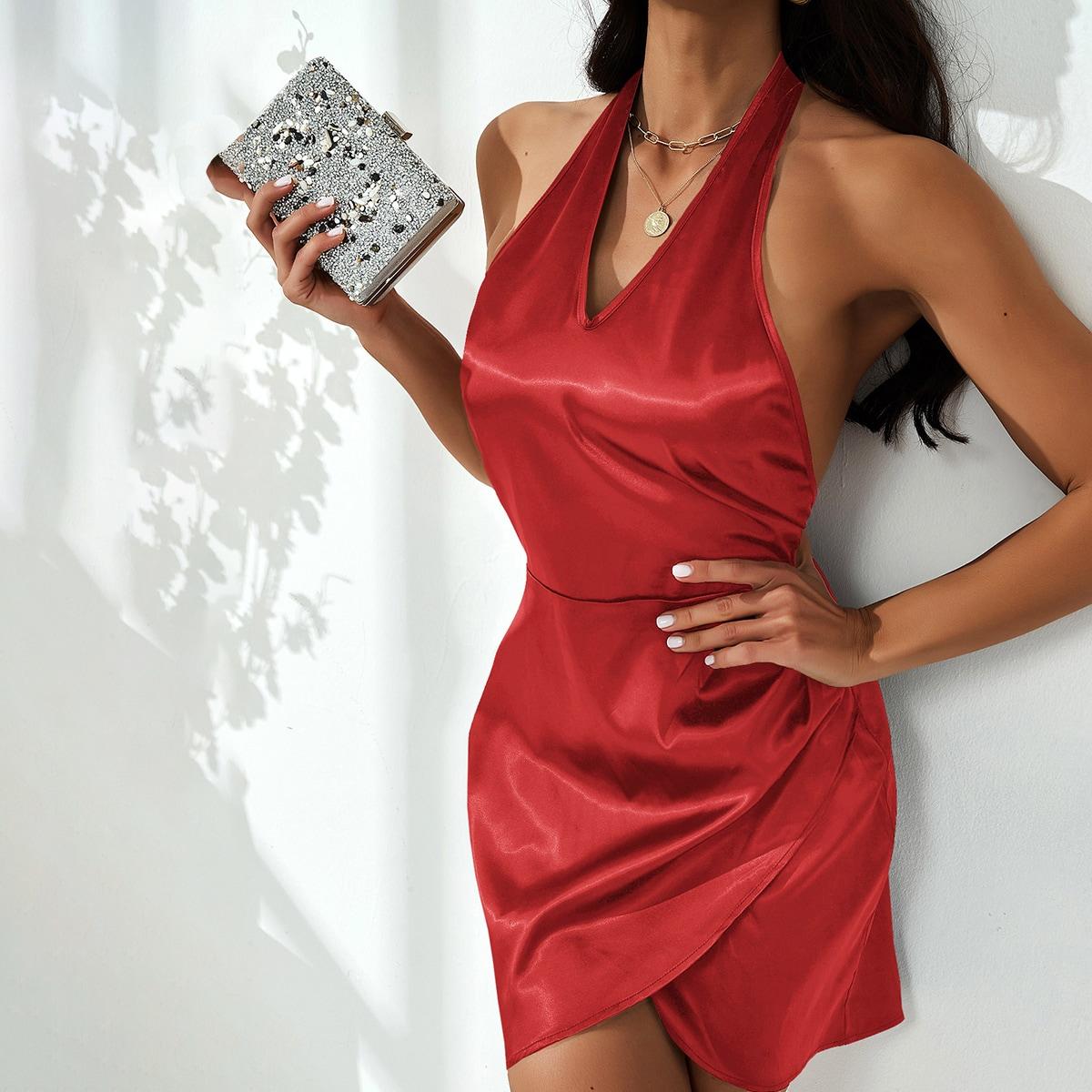 Платье с вырезом на спине SheIn swdress02210524859