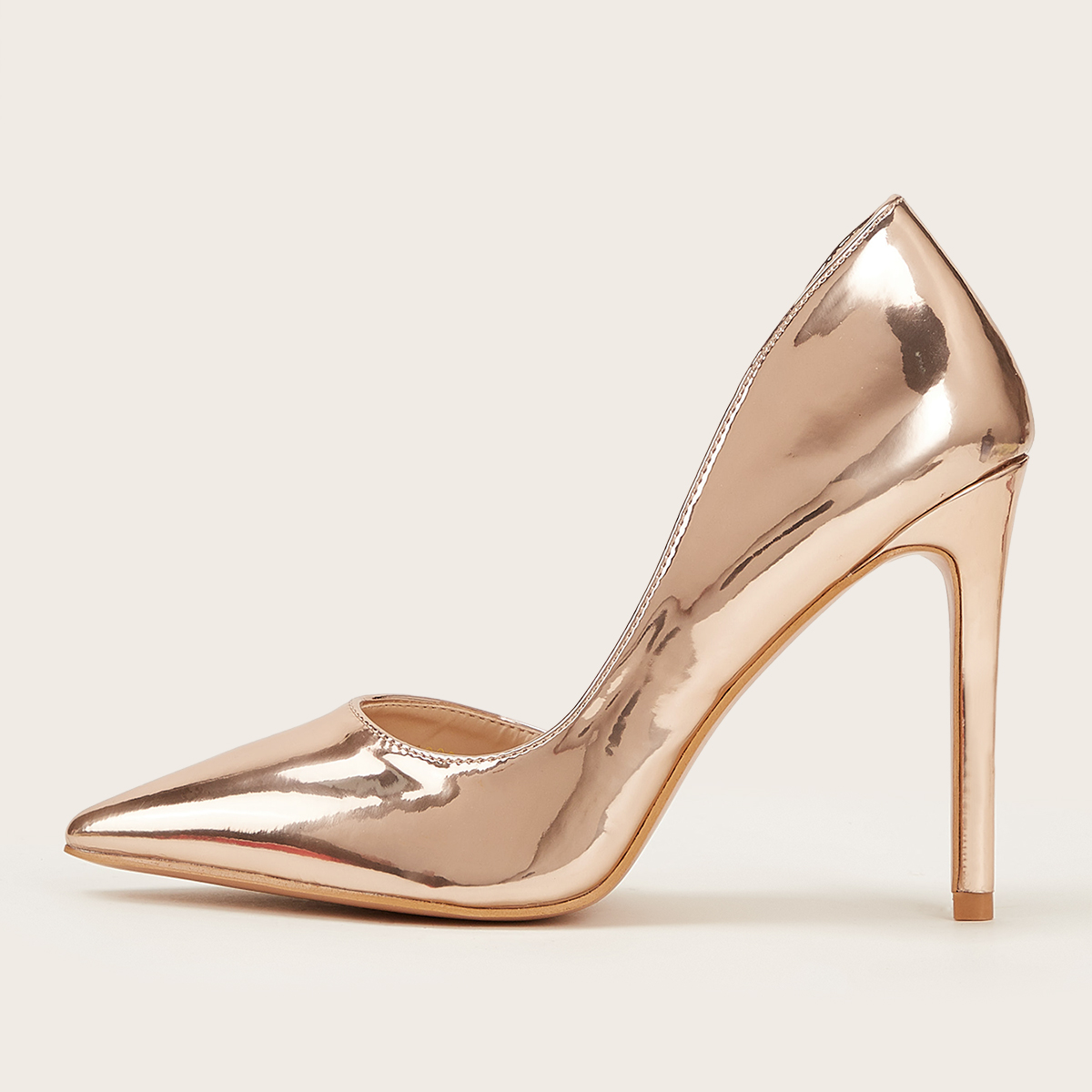Металлические остроконечные туфли на высоких тонких каблуках от SHEIN
