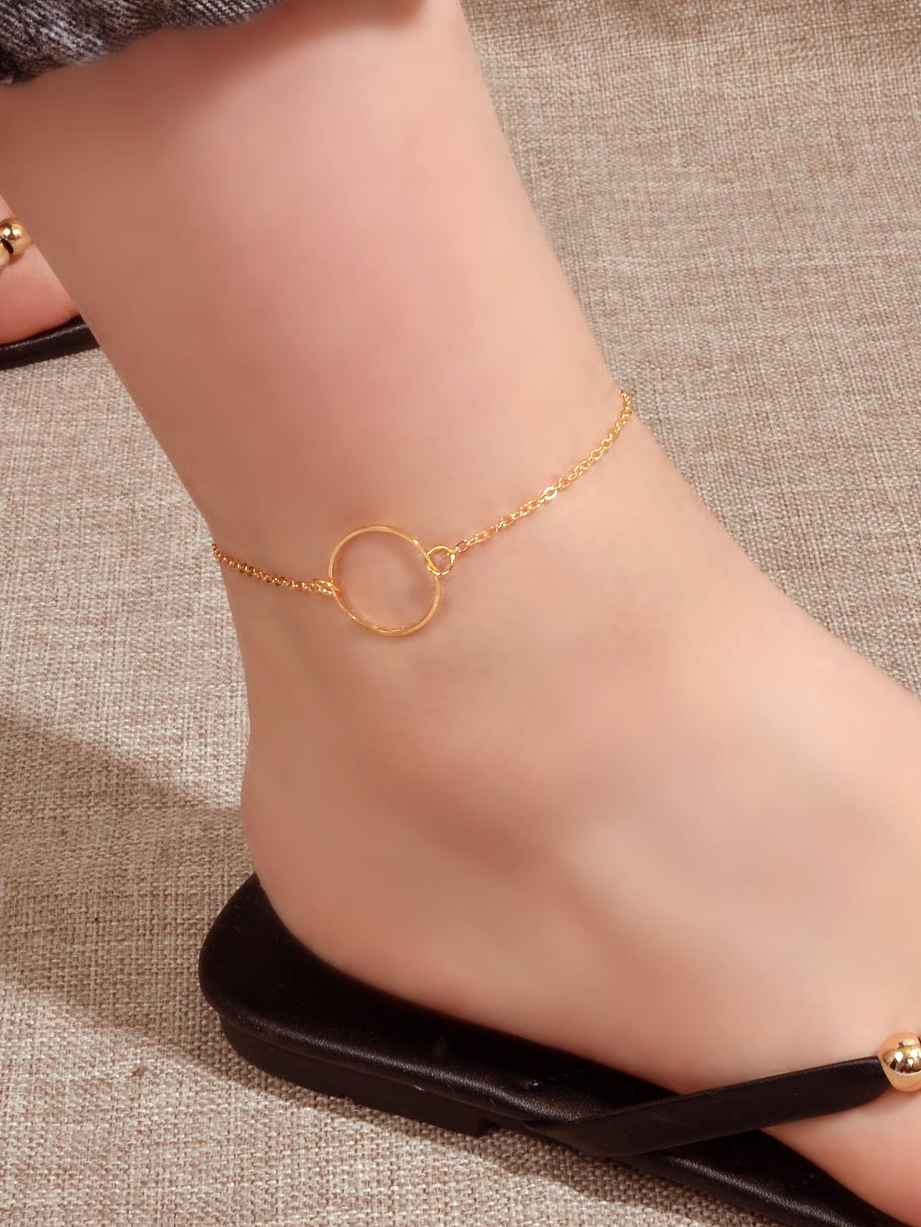 ring decor anklet