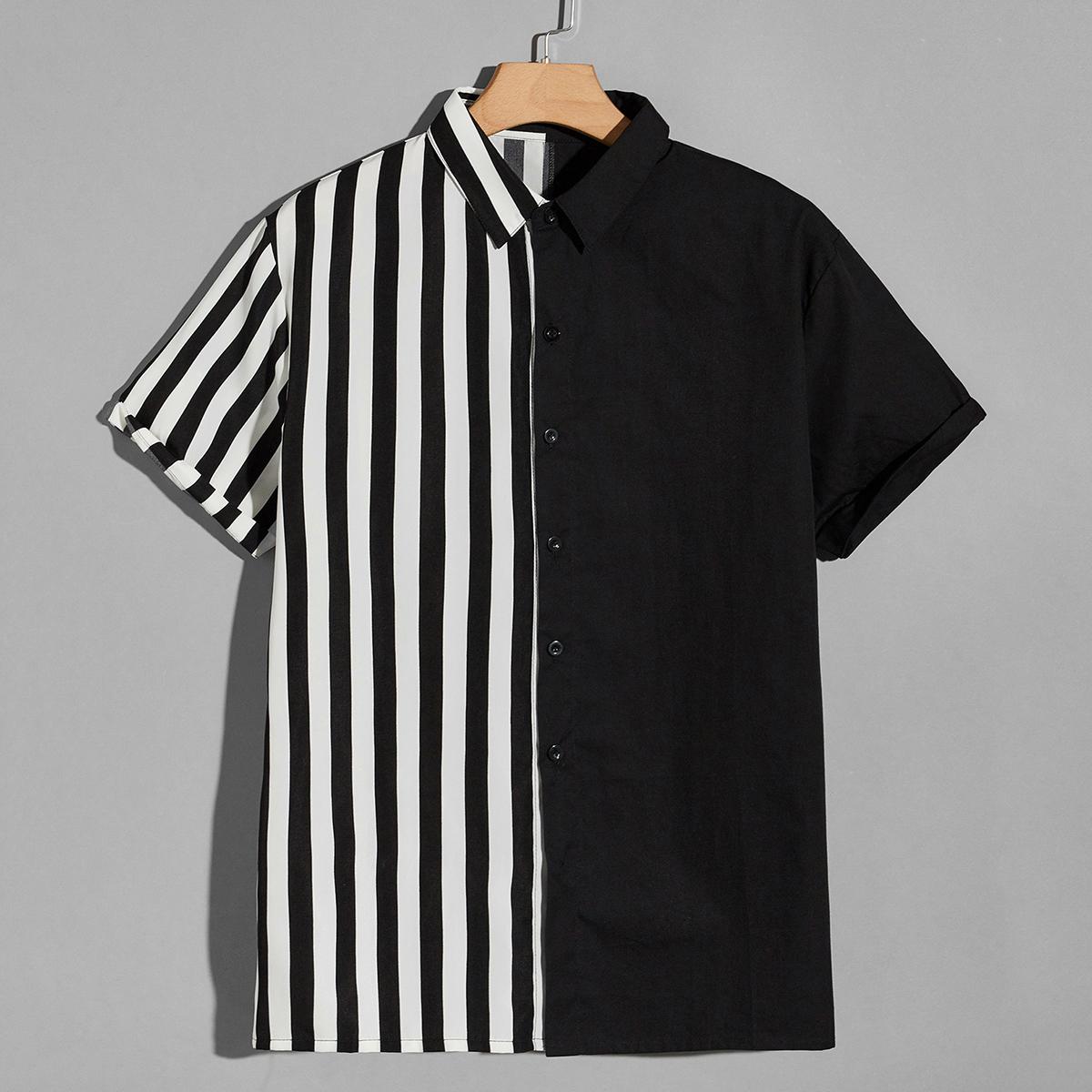 Мужской Рубашка в полоску SheIn smshirt25210528832