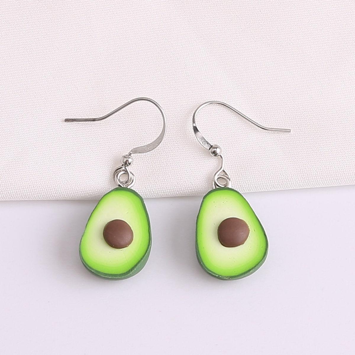 Girls Avocado Design Earrings, SHEIN  - buy with discount