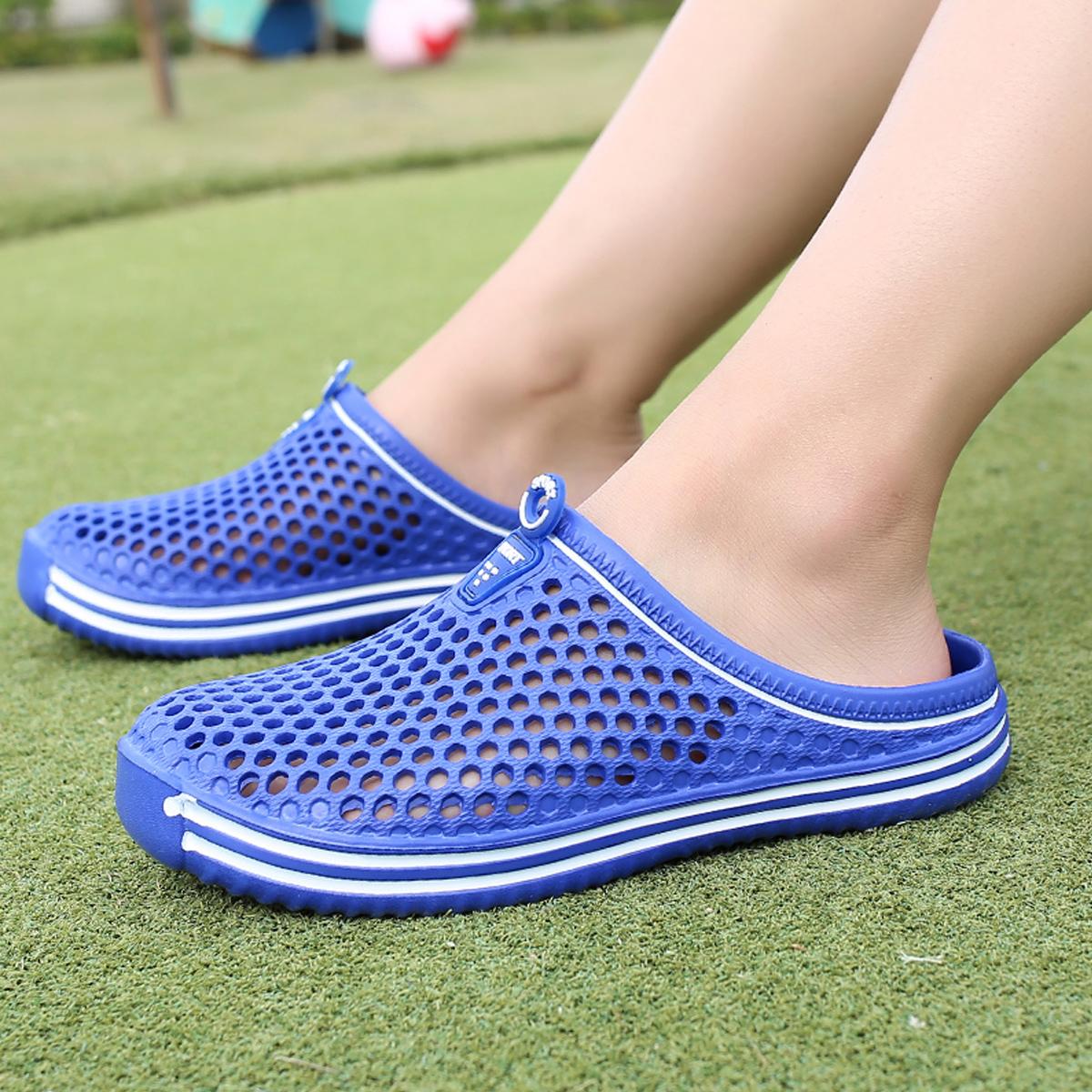 С открытой пяткой с разрезом Одноцветный Мужские сандалии