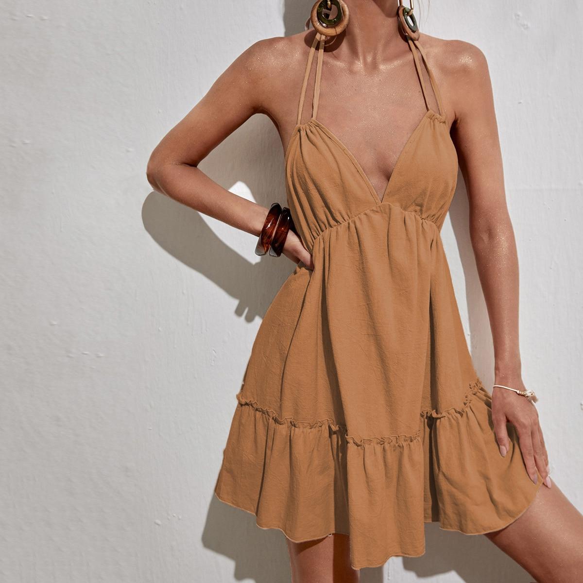 Платье с вырезом на спине SheIn swdress44210602705
