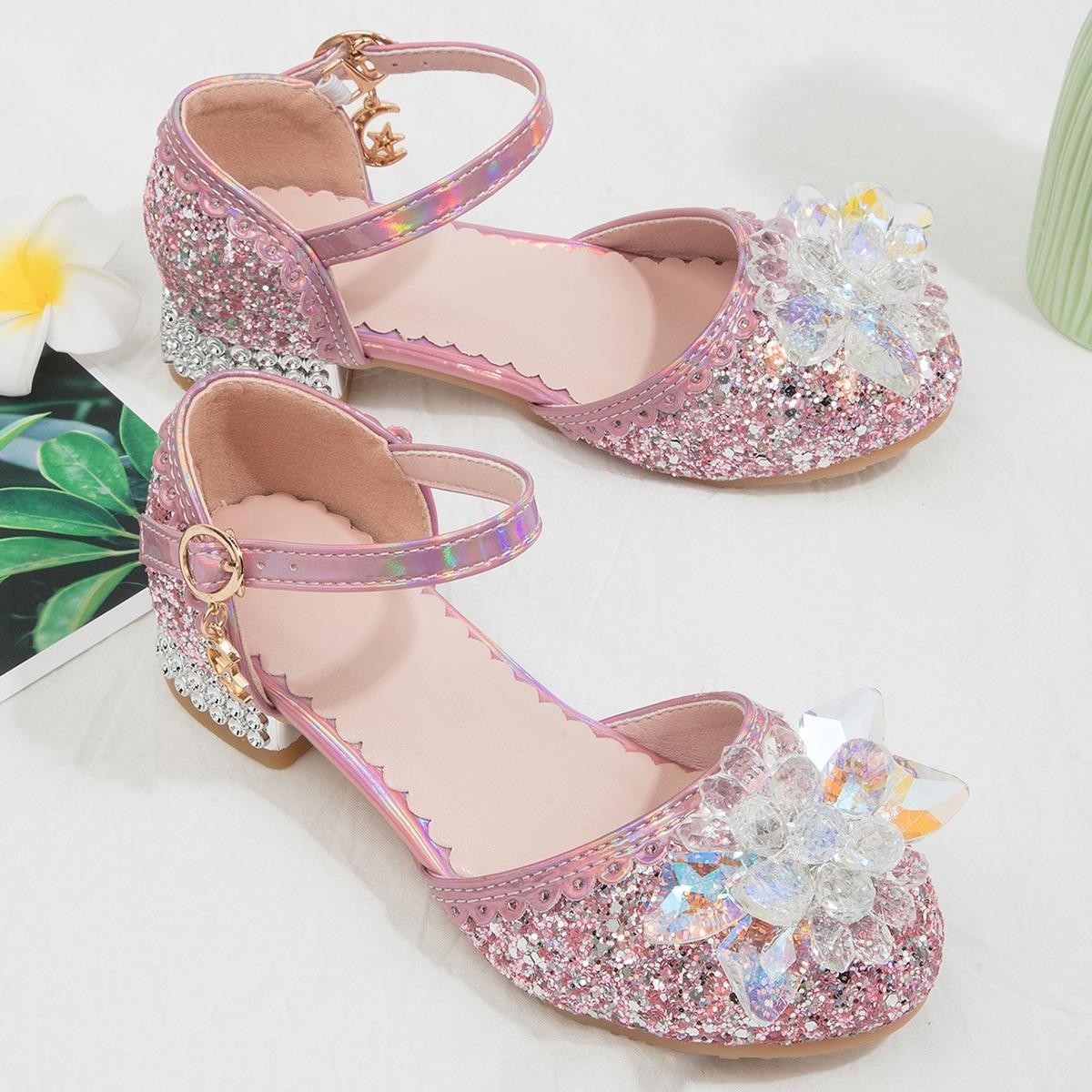 Туфли мэри джейн с искусственным жемчугом для девочек от SHEIN