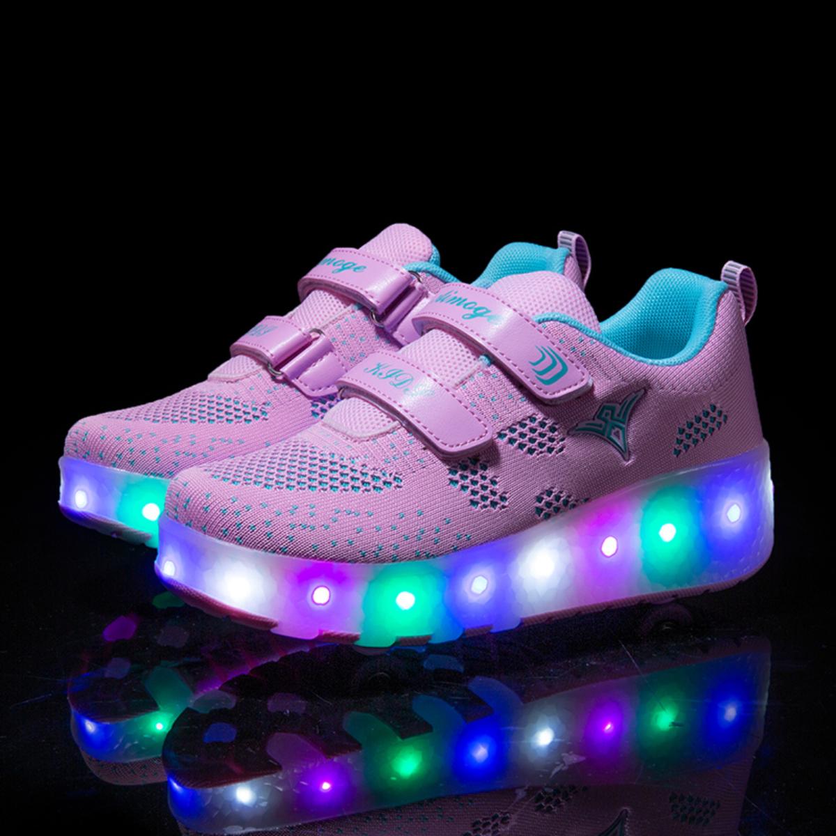 Туфли на роликах с зарядкой USB для девочек от SHEIN