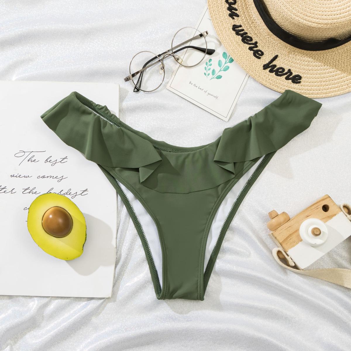 Bas de bikini à plis