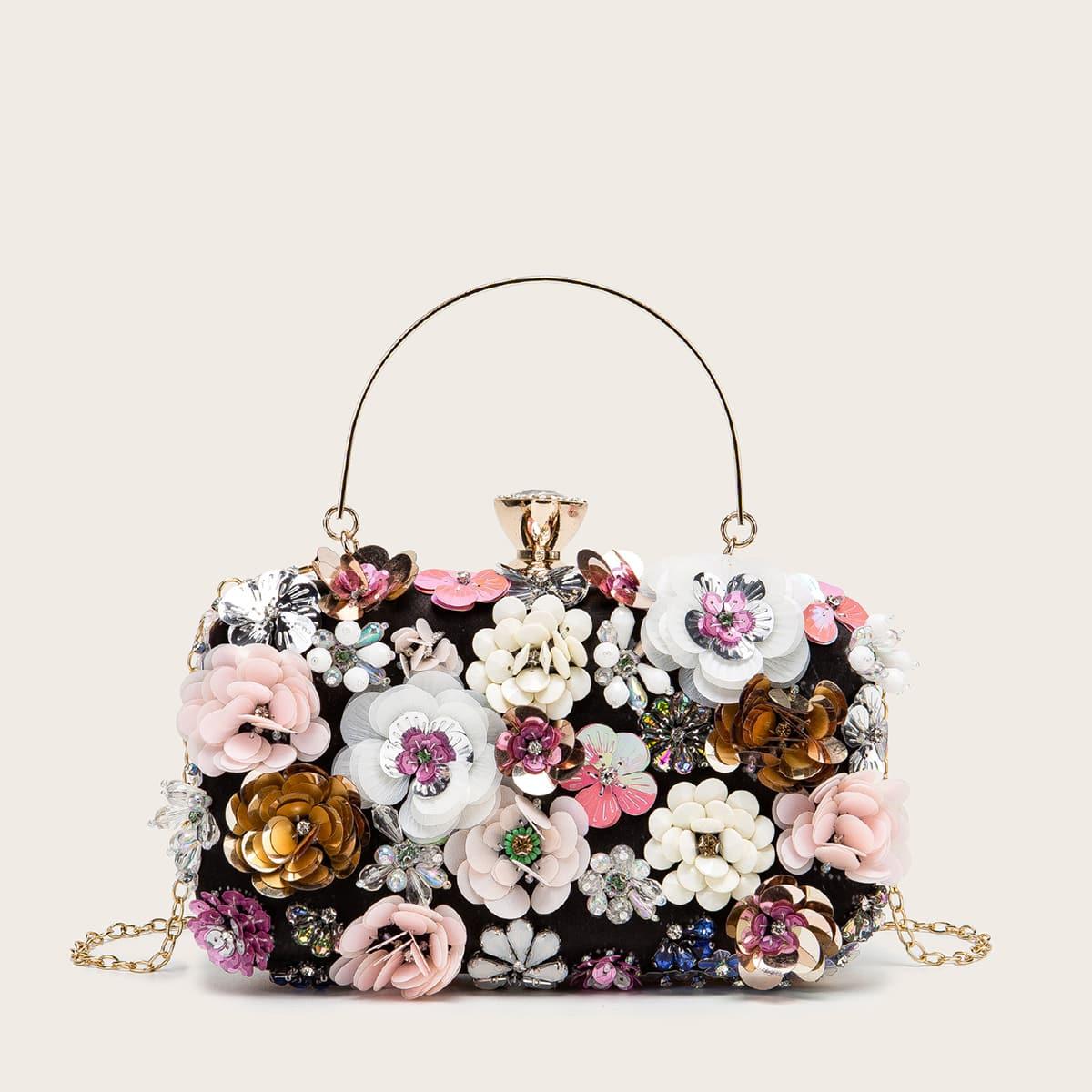 Сумка с цветочным декором