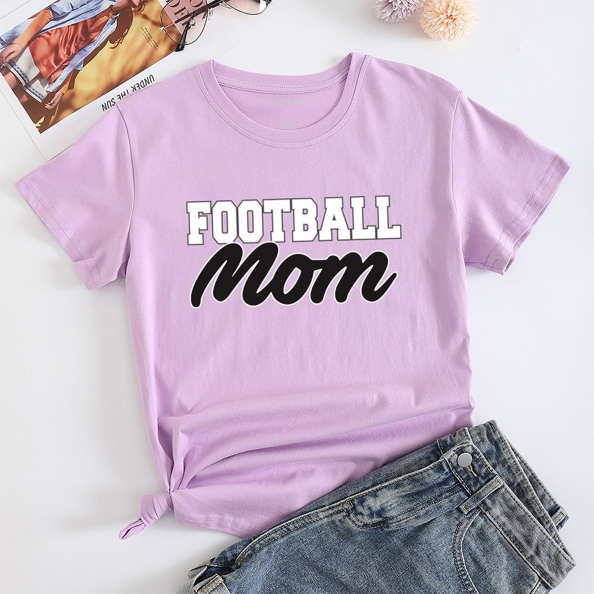 Casual Tekst T-shirt